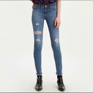 Levi's Mid-Rise Distressed Jeans   Size 32